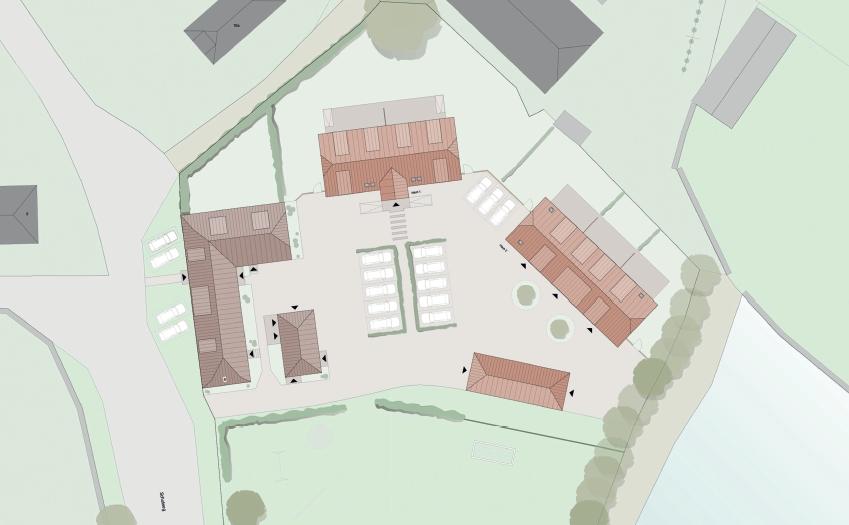 Links: alte Schule / Rechts 2 neue Gebäude Quelle: Architekten Köhler-Erxleben-Partner